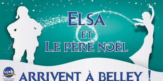 Elsa et le Père Noël à Belley